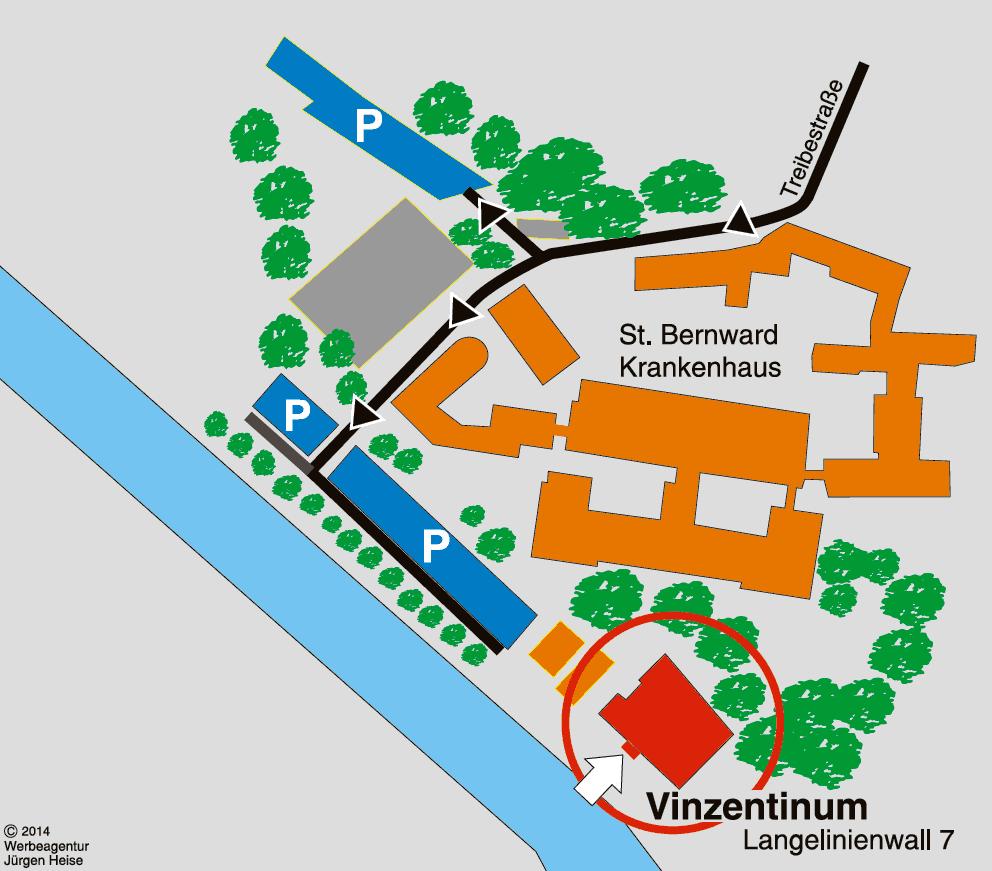 Hildesheimer Augenzentrum im St. Bernward Krankenhaus · Vinzentinum, Langelinienwall 7, 31134 Hildesheim